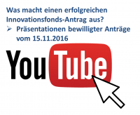 Innovationsfonds-Präsentationen